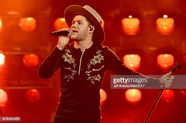 Niall Horan onstage during the 2017 American Music Awards at Microsoft Theater on November 19 2017 in Los Angeles California