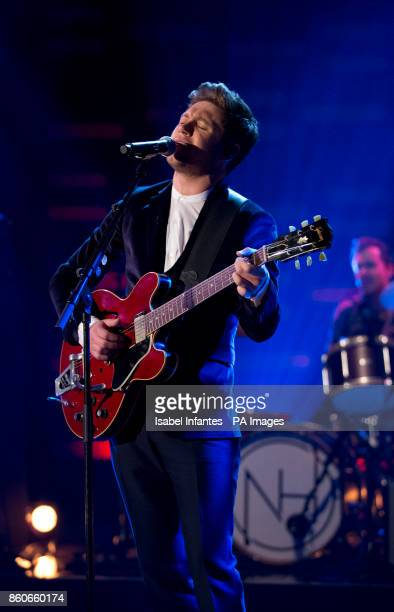 Niall Horan performing during filming of the Graham Norton Show at the London Studios to be aired on BBC One on Friday evening