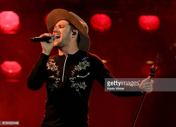 Niall Horan performs onstage during the 2017 American Music Awards at Microsoft Theater on November 19 2017 in Los Angeles California