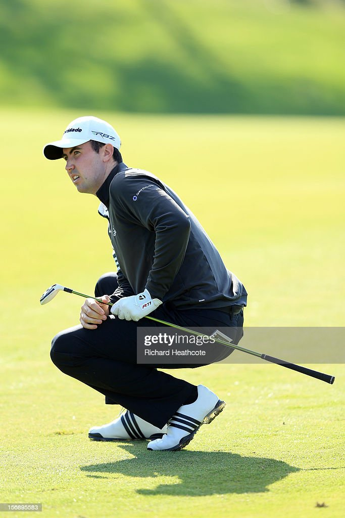Niall Kearney of Ireland in action during the first round of the European Tour Qualifying School Finals at PGA Catalunya Resort on November 24, 2012 in Girona, Spain.