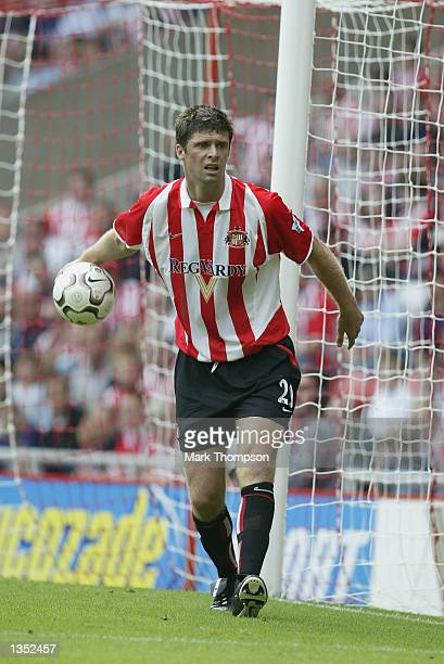 Niall Quinn of Sunderland during the match between Sunderland and Everton in the FA Barclaycard Premiership at The Stadium of Light Sunderland on...