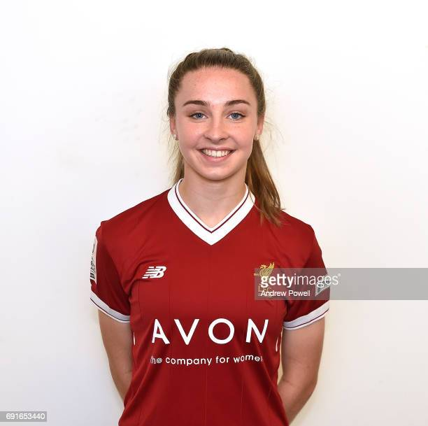 Niamh Charles of Liverpool Ladies during a Photocall at Select Security Stadium on June 2 2017 in Widnes England