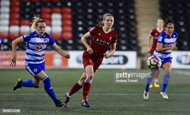 Niamh Charles of Liverpool Ladies during the Women's Super League match between Liverpool Ladies and Reading FC Women at Select Security Stadium on...
