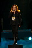 Niamh Kavanagh of Ireland performs at the open rehearsal at the Telenor Arena on May 19 2010 in Oslo Norway In all 39 countries will take part in the...
