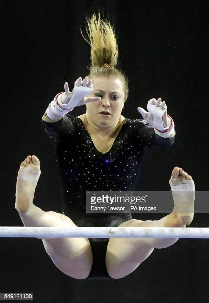 Niamh Rippin on the WA Uneven Bars during the Glasgow World Cup at the Emirates Arena Glasgow