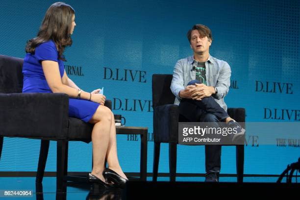 Niantic chief executive John Hanke whose company is behind hit smartphone game Pokemon Go takes part in the WSJD Live conference in Laguna Beach...