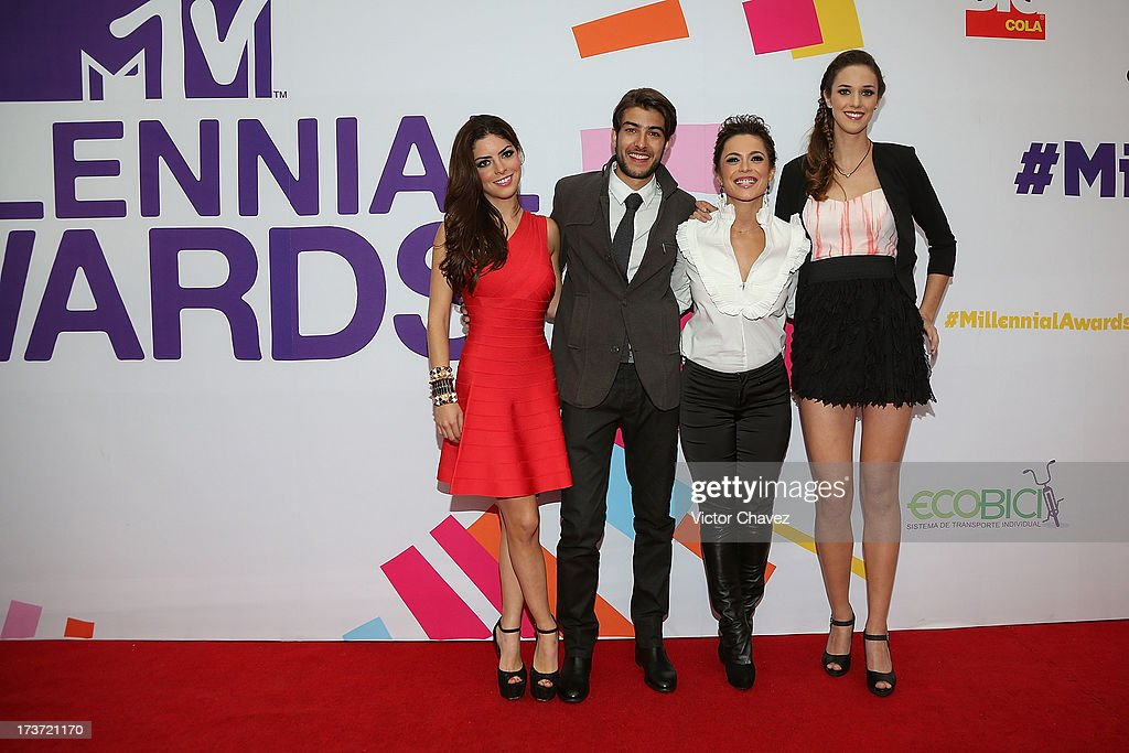 Niñas Mal 2 soap Opera cast memebers attend the MTV Millennial Awards 2013 at Foro Corona on July 16, 2013 in Mexico City, Mexico.