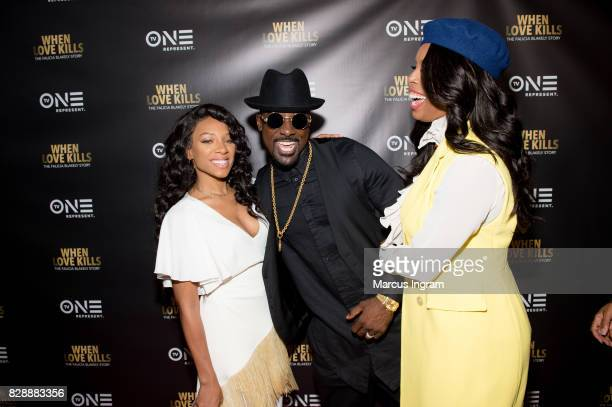 Niatia 'Lil Mama' Kirkland Lance Gross and Tasha Smith attend the 'When Love Kills The Falicia Blakely Story' movie screening at Regal Atlantic...