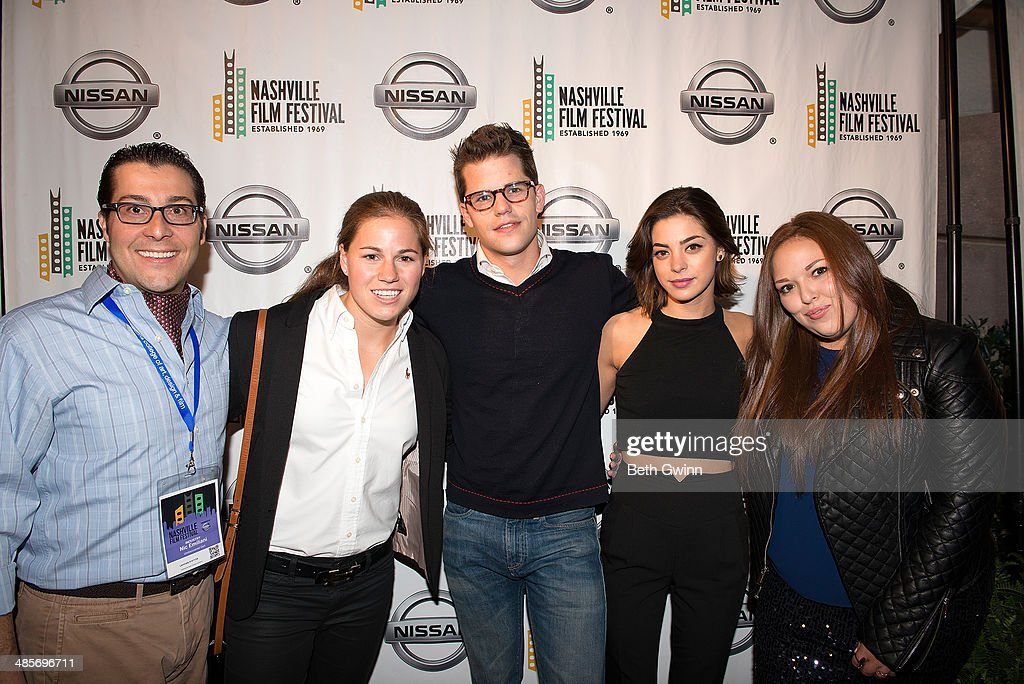 Nic Emiliani, Lauren Avinoam, Max Carver, Gia Mantegna, and Lauren Hogarth attend day 3 of the 2014 Nashville Film Festival at Regal Green Hills on April 19, 2014 in Nashville, Tennessee.