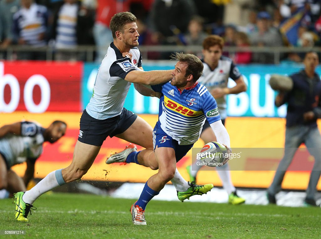 Nic Groom of the Stormers during the Super Rugby match between DHL Stormers and Waratahs at DHL Newlands Stadium on April 30, 2016 in Cape Town, South Africa.