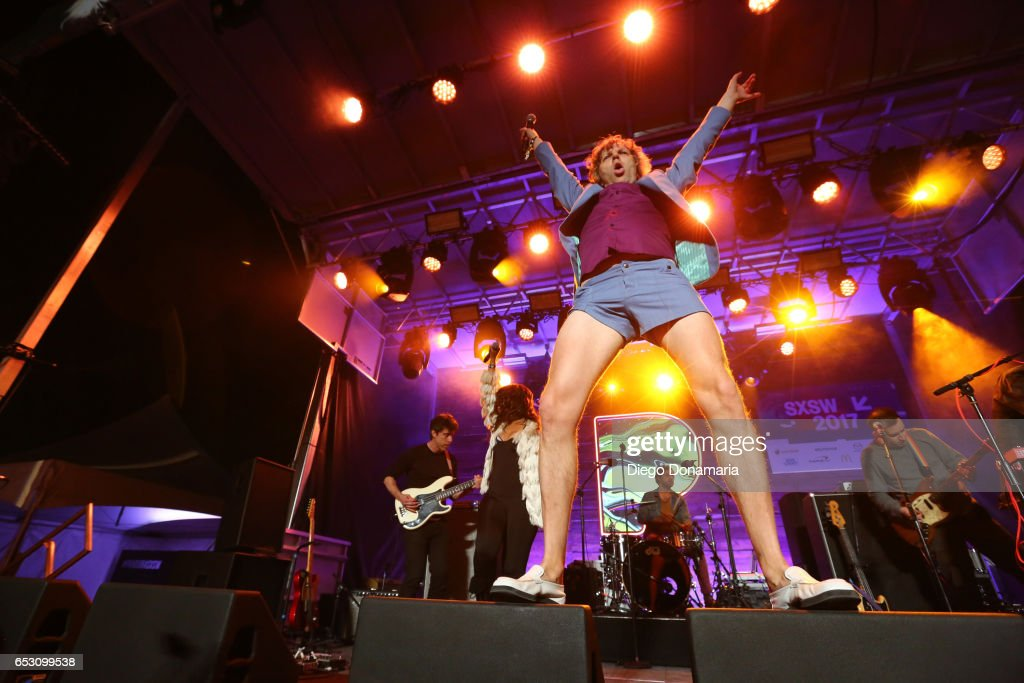 Nic Offer of !!! (Chk Chk Chk) performs onstage at the Pandora Party during 2017 SXSW Conference and Festivals at The Gatsby on March 13, 2017 in Austin, Texas.
