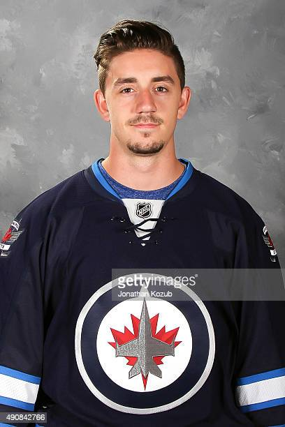 Nic Petan of the Winnipeg Jets poses for his official headshot for the 20152016 season on September 17 2015 at the MTS Centre in Winnipeg Manitoba...