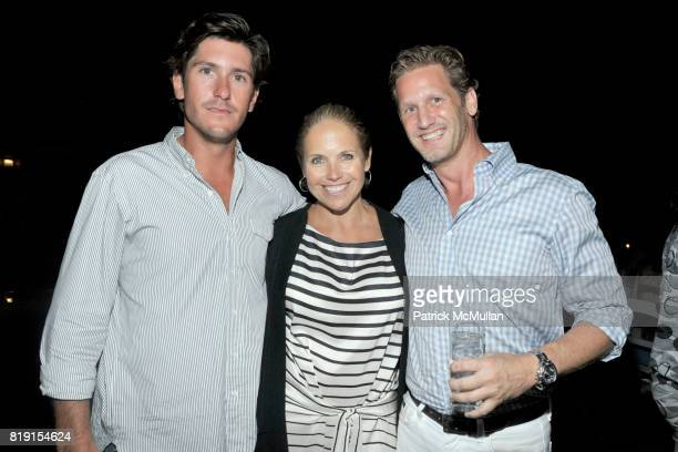 Nic Roldan Katie Couric and Ward Simmons attend THE CINEMA SOCIETY with VANITY FAIR HUGO BOSS host the after party for 'DINNER FOR SCHMUCKS' at...