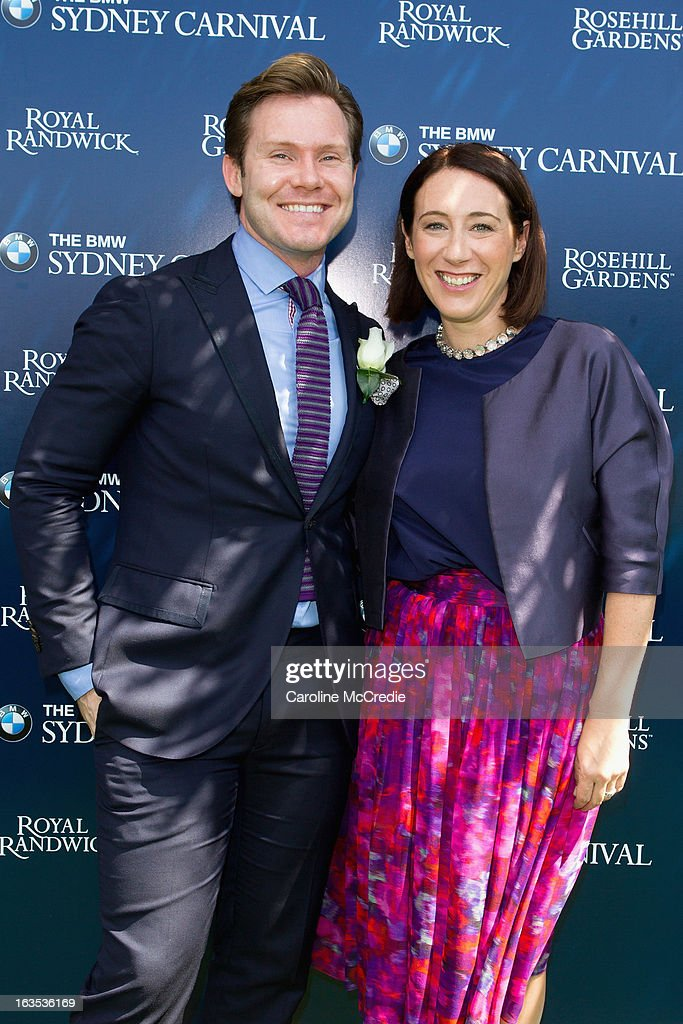 Nic Smith and Edwina McCann at the BMW Sydney Carnival launch at Centennial Park on March 12, 2013 in Sydney, Australia.