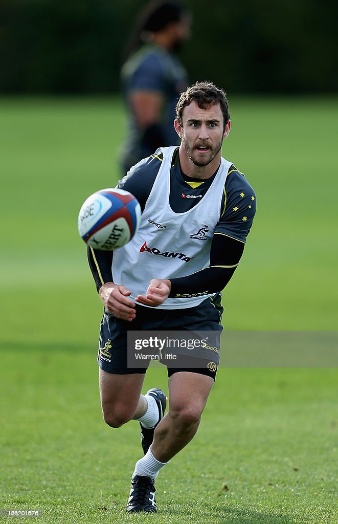 Nic White of Australia in action during a training session at Latymer School on October 29, 2013 in London, England.