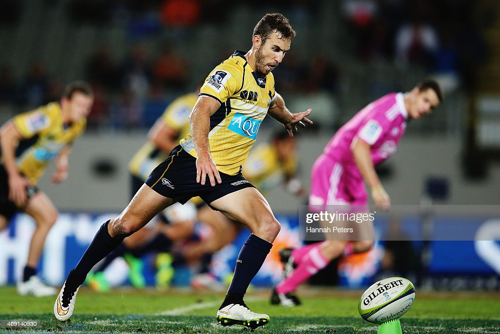 <a gi-track='captionPersonalityLinkClicked' href=/galleries/search?phrase=Nic+White+-+Rugby+Player&family=editorial&specificpeople=10977486 ng-click='$event.stopPropagation()'>Nic White</a> of the Brumbies kicks the final penalty during the round nine Super Rugby match between the Blues and the Brumbies at Eden Park on April 10, 2015 in Auckland, New Zealand.
