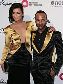 Nica and Joe attend the 23rd Annual Elton John AIDS Foundation Academy Awards Viewing Party on February 22 2015 in West Hollywood California