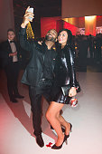 Nica and Joe attend the Ein Herz Fuer Kinder Gala 2014 after show party at Tempelhof Airport on December 6 2014 in Berlin Germany