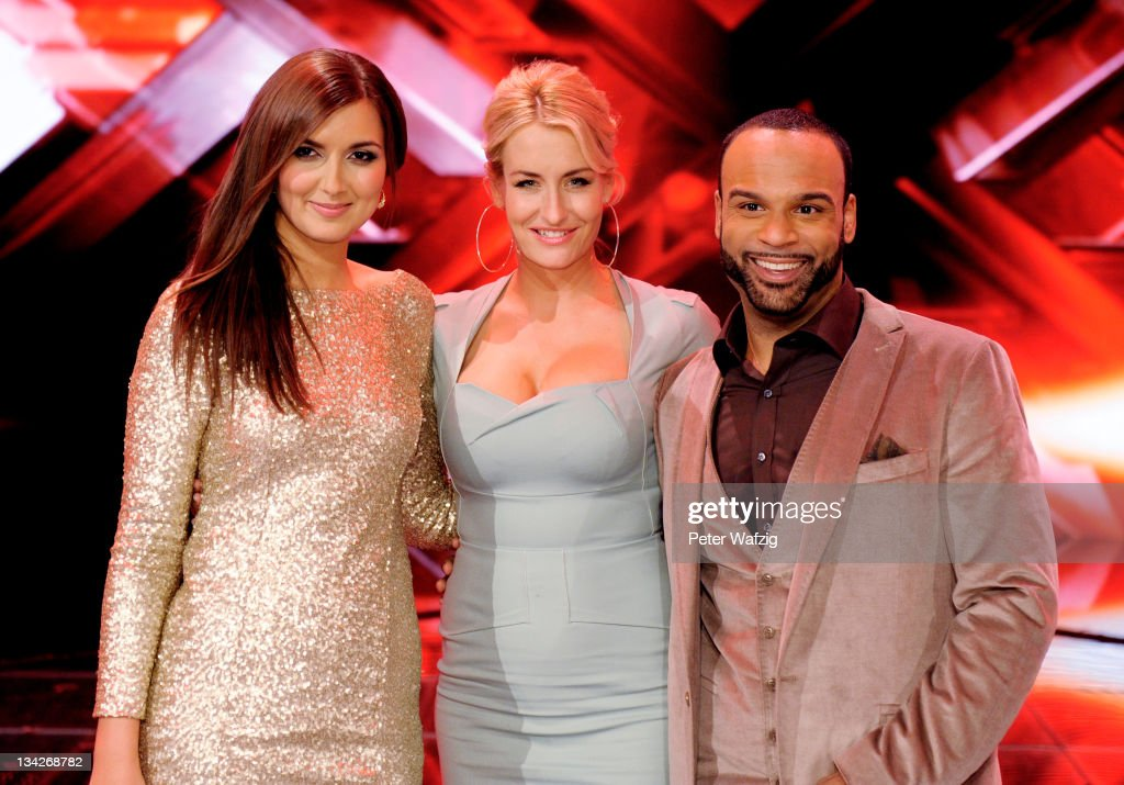 Nica Joe and jury member Sarah Connor pose during the winners photocall at the 'The X Factor Live' Semifinal TVShow on November 29 2011 in Cologne...