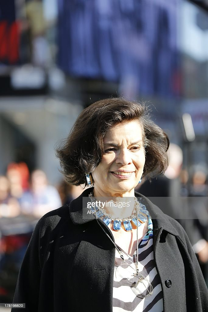 Nicaraguan Bianca Jagger arrives to the Polar Music Prize cermony in Stockholm concert hall on August 27, 2013. AFP PHOTO / CHRISTINE OLSSON / SCANPIX SWEDEN / SWEDEN OUT