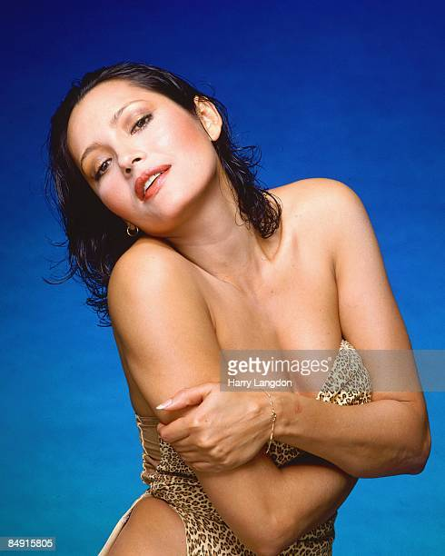Nicaraguan born actress Barbara Carrera poses for a portrait circa 1985 in Los Angeles California