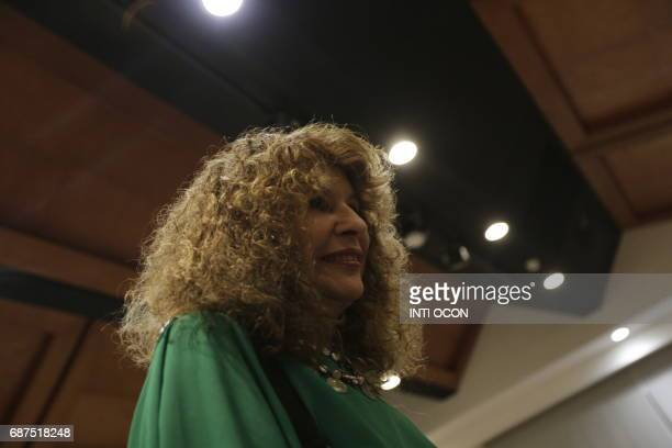 Nicaraguan writer Gioconda Belli attends the second day of the Fifth literary festival 'CentroAmérica Cuenta' dedicated to two great French authors...