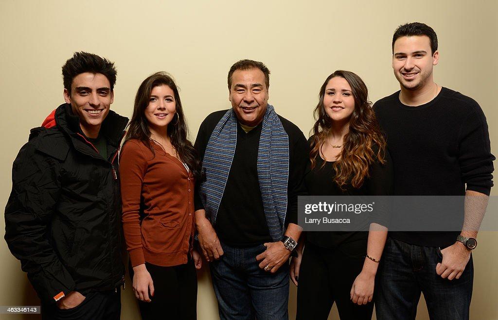 Nicco Quinones Amanda Bonvecchio anchor John Quinones Andrea Quinones and Julian Quinones pose for a portrait during the 2014 Sundance Film Festival...