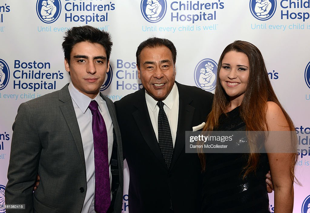 Nicco Quinones, John Quinones and Andrea Quinones attend the 4th annual Milgros para Ninos Gala benefitting Boston Children's Hospital at The Westin Boston Waterfront on September 20, 2013 in Boston, Massachusetts.
