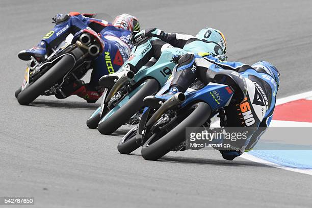 Niccolo Antonelli of Italy and Ongetta Rivacold leads the field during the MotoGP Netherlands Free Practice at TT Circuit on June 24 2016 in Assen...