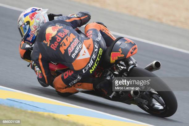 Niccolo Antonelli of Italy and Red Bull KTM Ajo rounds the bend during the MotoGp of France Qualifying on May 20 2017 in Le Mans France
