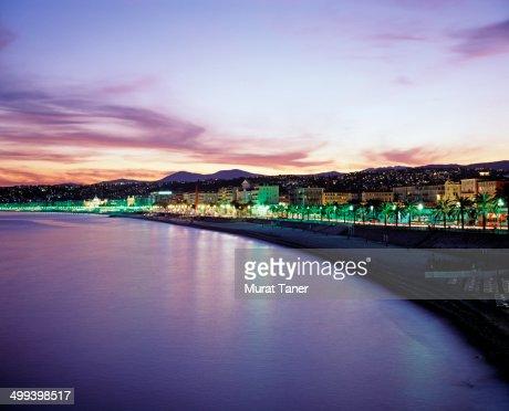 Nice along the Promenade des Anglais