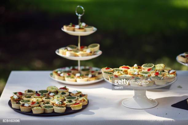 Nice aranjment with mini tarts catering for party