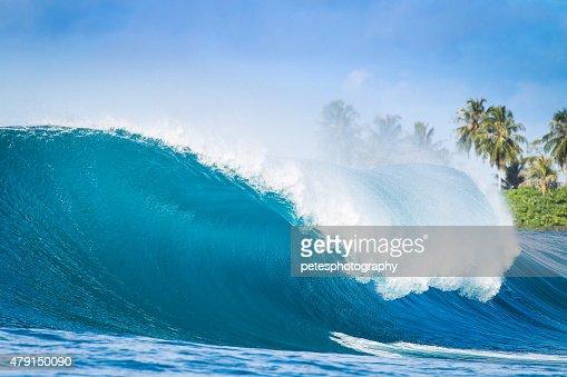 Nice Big Wave in Indonesia