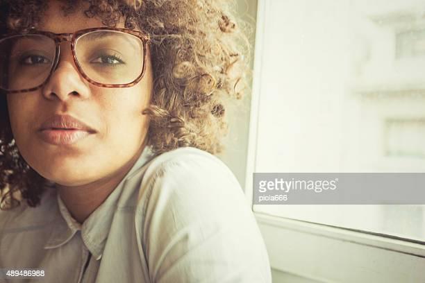 Nice black girl with vintage look