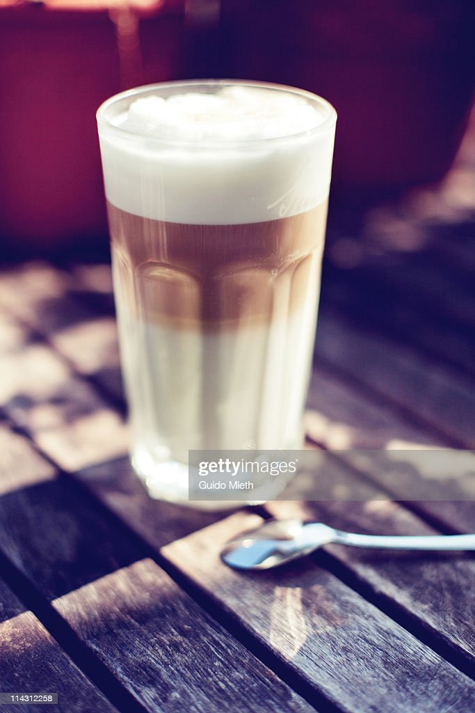 Nice cup of latte macchiato : Stock Photo
