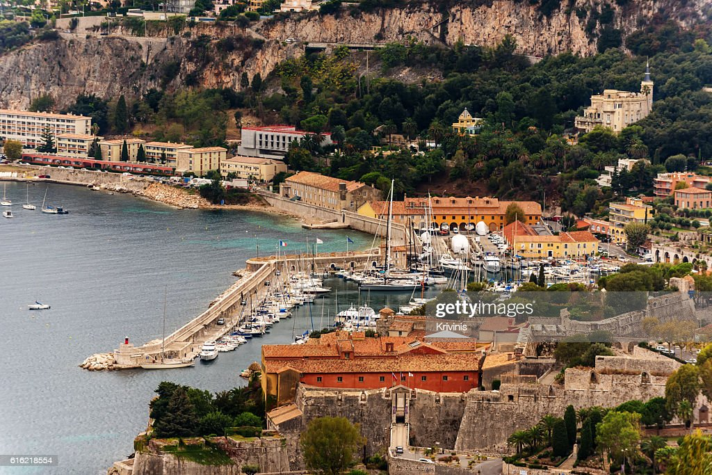 Nice, France: panoramic top view of Port : ストックフォト