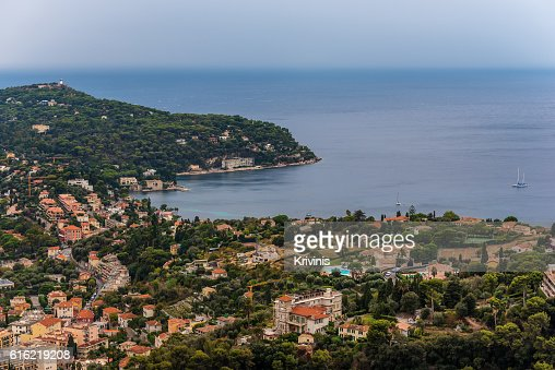 Nice, France: panoramic top view of surrounding hills : Stock-Foto