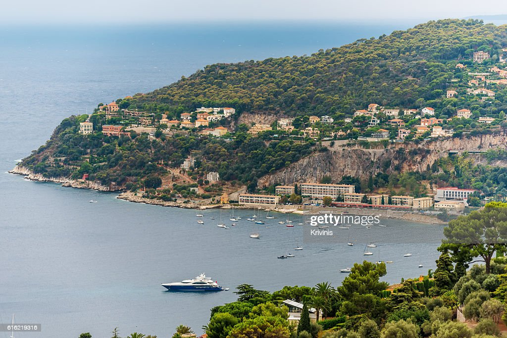 Nice, France: panoramic top view of surrounding hills : Stock Photo