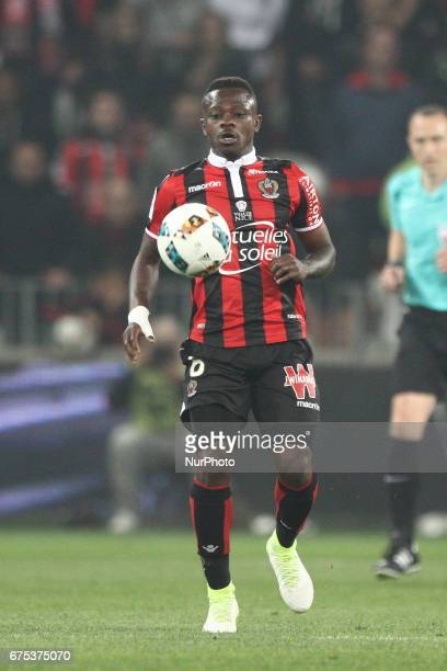 Nice midfielder Jean Seri in action during the Ligue 1 football match n35 OGC NICE PARIS SG on at the Allianz Riviera in Nice France