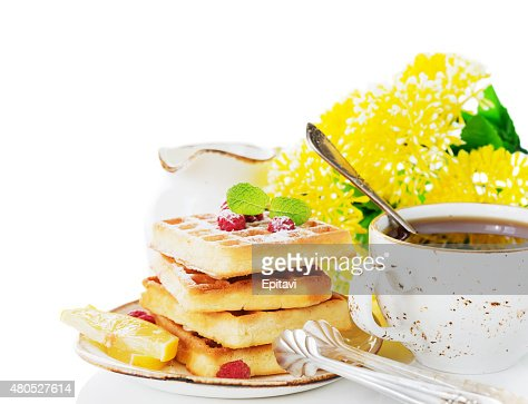 Nice sunny breakfast : Stock Photo