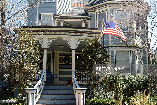 Nicely Landscaped Victorian Home In Wellesley MA Shows Some Patriotic Pride 04/15