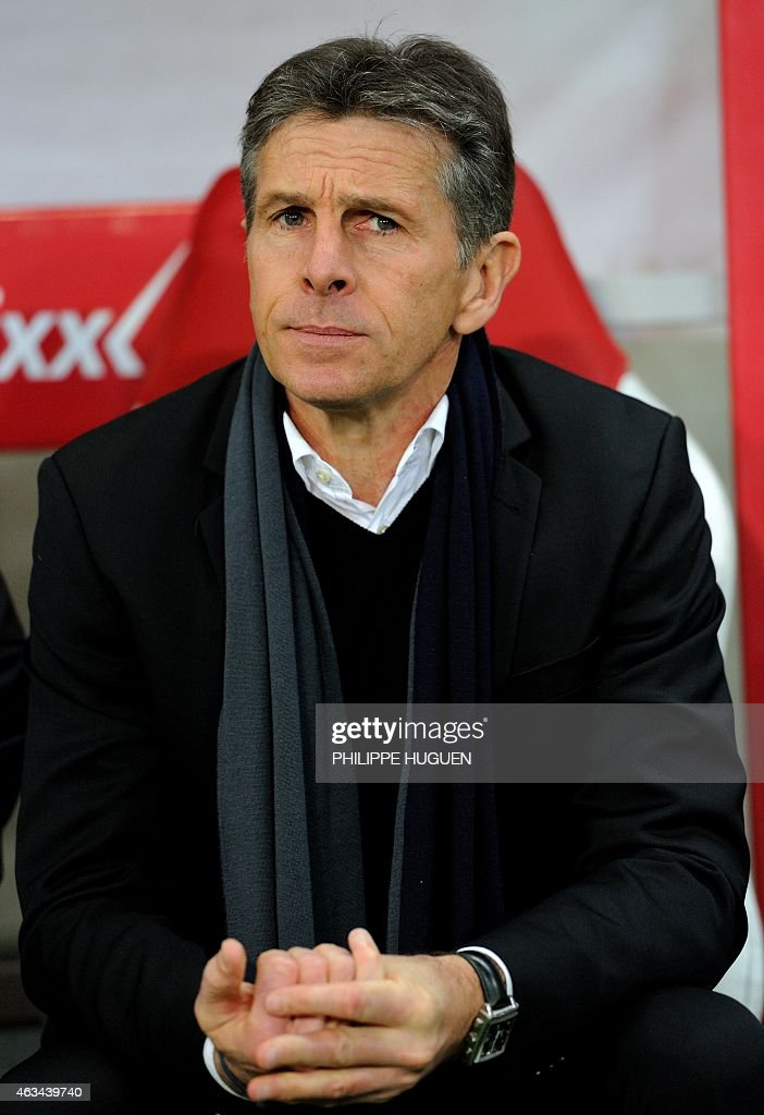 Nice's French coach <a gi-track='captionPersonalityLinkClicked' href=/galleries/search?phrase=Claude+Puel&family=editorial&specificpeople=697176 ng-click='$event.stopPropagation()'>Claude Puel</a> looks on during the French L1 football match between Lille (LOSC) and Nice (OGCN) on February 14, 2015 at the Pierre Mauroy Stadium in Villeneuve d'Ascq, northern France.