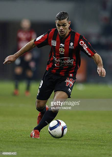 Nice's French forward Hatem Ben Arfa controls the ball during the French L1 football match Nice versus Paris SaintGermain on December 4 2015 at the...