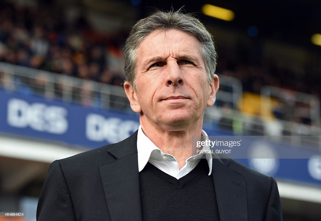 Nice's head coach <a gi-track='captionPersonalityLinkClicked' href=/galleries/search?phrase=Claude+Puel&family=editorial&specificpeople=697176 ng-click='$event.stopPropagation()'>Claude Puel</a> attends the French L1 football match between Montpellier (MHSC) and Nice (OGNC) on March 1, 2015 at the la Mosson Stadium in Montpellier, southern France.