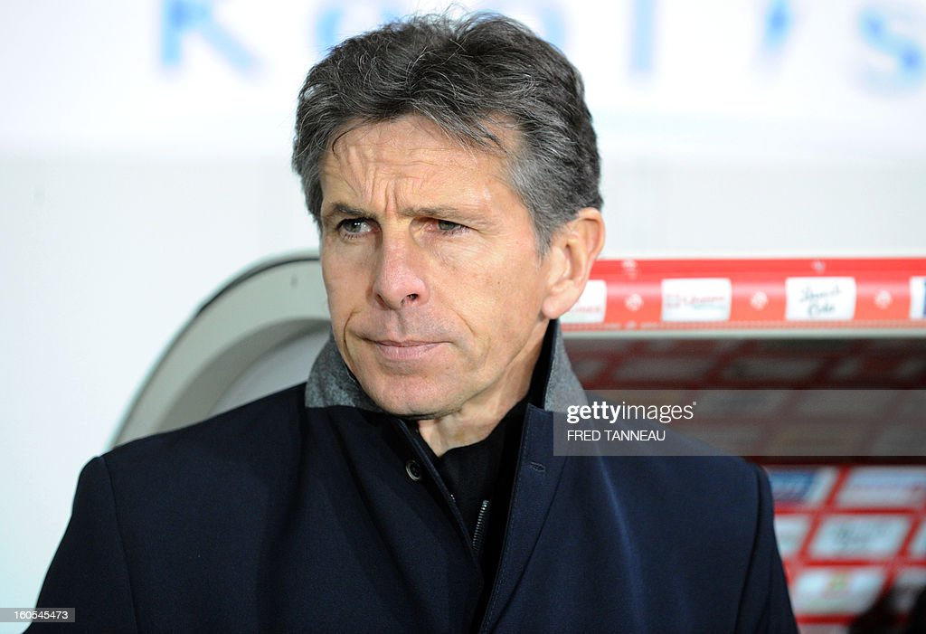 Nice's head coach Claude Puel looks on during a French L1 football match between Brest and Nice at the Francis Le Ble stadium on February 2, 2013 in Brest, western France.
