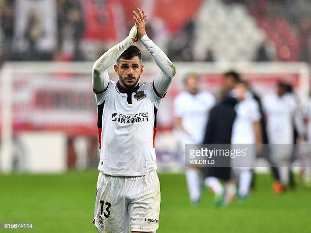 Nice's Valentin Eysseric celebrates after during Europa League football match FC Salzburg v OGC Nice in Salzburg on October 20 2016 / AFP / WILDBILD