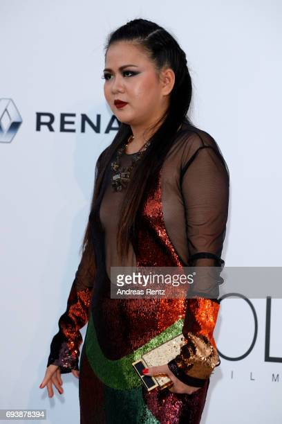 Nichapat Suphap arrives at the amfAR Gala Cannes 2017 at Hotel du CapEdenRoc on May 25 2017 in Cap d'Antibes France