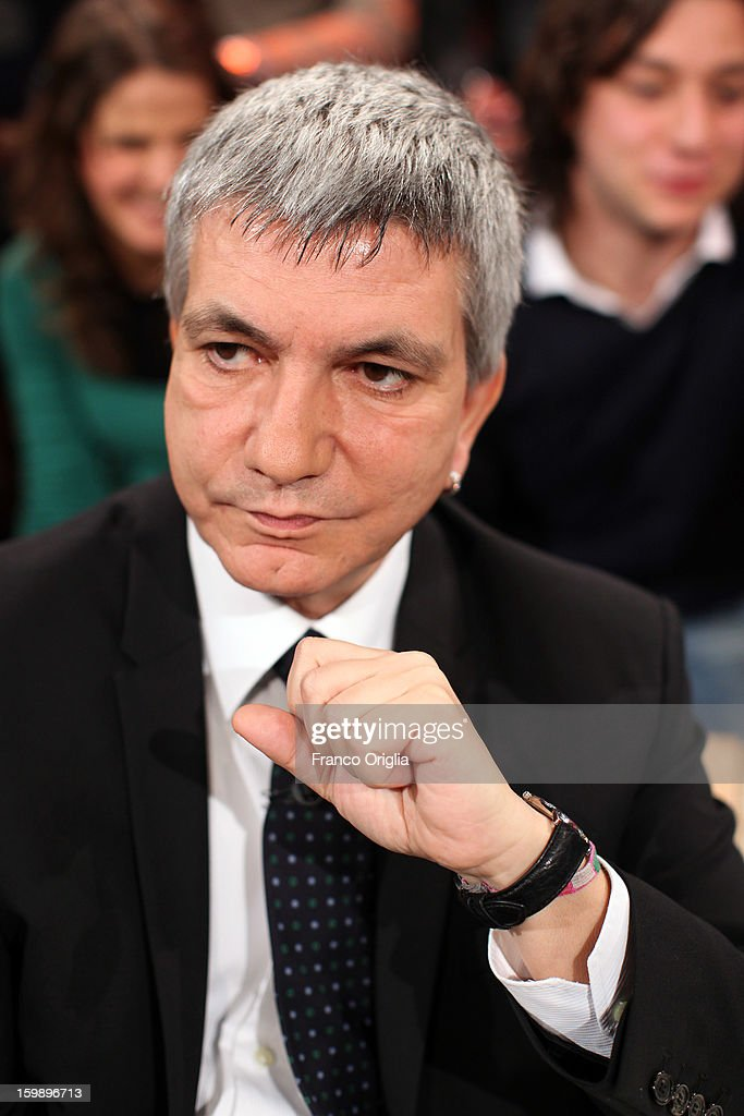 Nichi Vendola, secretary of 'Left Ecology Freedom' party, attends Ballaro' Italian TV Show on January 22, 2013 in Rome, Italy. National Elections In Italy are scheduled for February 24.