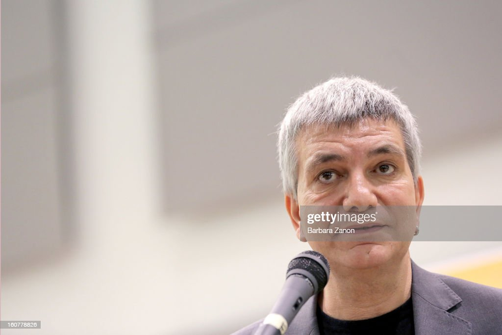 Nichi Vendola, the president of Apulia and leader of Sinistra ecologia e Liberta party, speaks on stage during the Electoral Campaign at Palaplip on February 5, 2013 in Mestre, Italy. Sinistra Ecologia e Liberta is a party in the centre-left coalition led by Pierluigi Bersani that will contest the upcoming election in February.