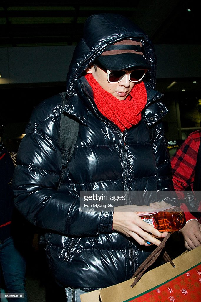Nichkhun of boy band 2PM is seen at Incheon International Airport on December 23, 2012 in Incheon, South Korea.